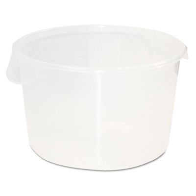 Round Storage Containers, Clear - 12 Quart
