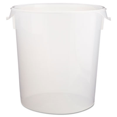 Round Storage Containers, Clear - 22 Quart RCP5728-24CLE