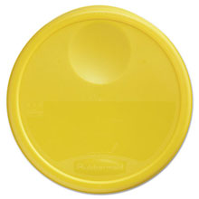 "Round Storage Container Lid for 12 and 22 qt - 13.5"" Dia x 2.75"" H RCP5730YEL"