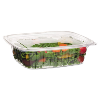48 oz. Renewable & Compostable Deli Containers - 200 Containers & Lids ECPEP-RC48