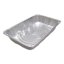 "Ribbed FS Aluminum Steam Pans - 20.75"" x 12.19"" x 3.38"" - 40 Pans PCTY6050XH"