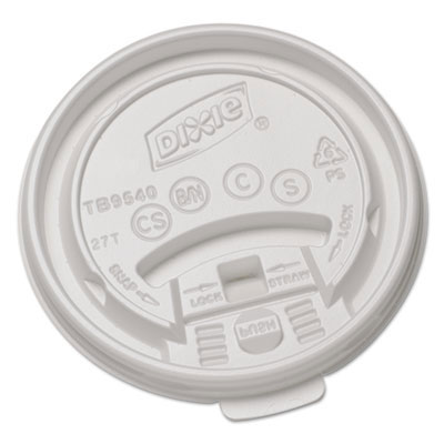 Dixie Hot Drink Plastic Cup Lid - 10 oz.