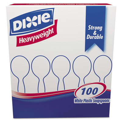 Dixie Heavyweight Plastic Cutlery Spoons