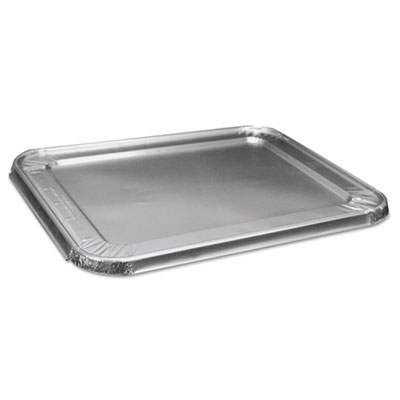 Half Size Steam Table Pan Lid, Aluminum, 100/Case BWKLIDSTEAMHF