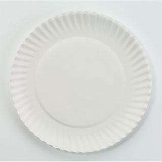 White Round Paper Plates  sc 1 st  UnoClean & White Paper Plates 6