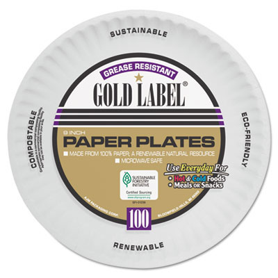 Gold Label Round Paper Plates