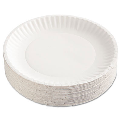 Green Label Uncoated Round Paper Plates