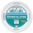 "Green Label 6"" Round Paper Plates"