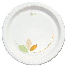 "8.5"" Dia. Bare Treated Paper Dinnerware Plate - (2) 125 Plates SCCOFMP9"