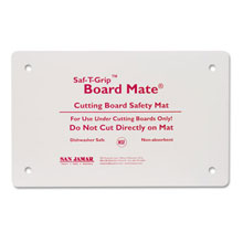 Saf-T-Grip Board-Mates, Thermoplastic Rubber, 18w x 13d x 1/8h, White