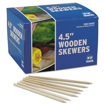 Wooden Skewers, 4-1/2 Inches, 1,000/Case RPPR815