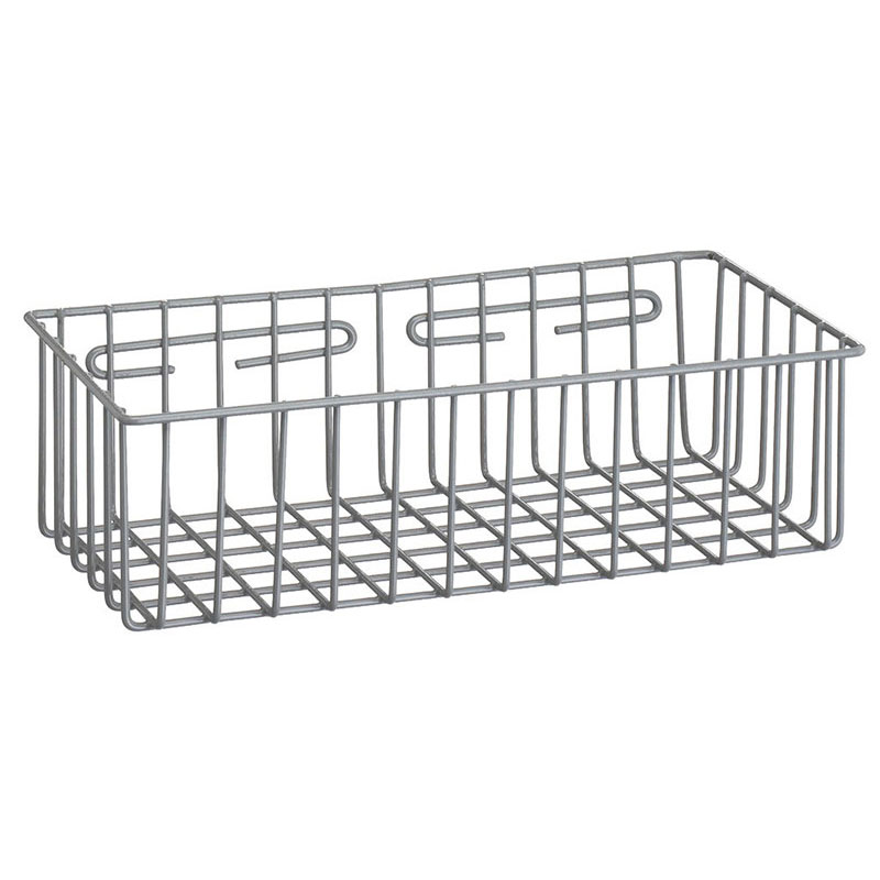 Wall Hanging Wire Baskets r&b wire 2255 metal medical storage basket - wall mounted - unoclean