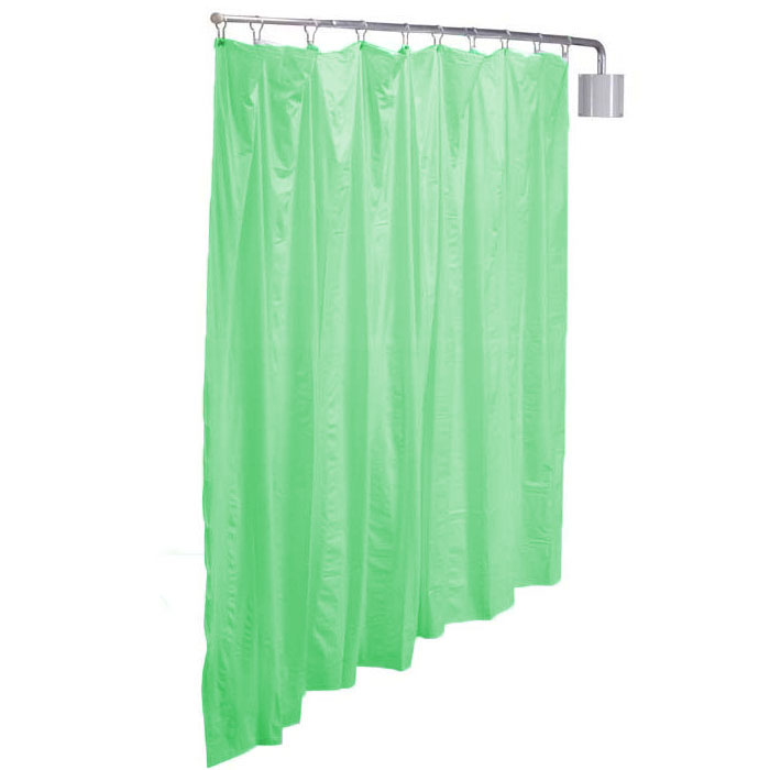 R&B Wire Telescoping Green Vinyl Curtain Privacy Screen