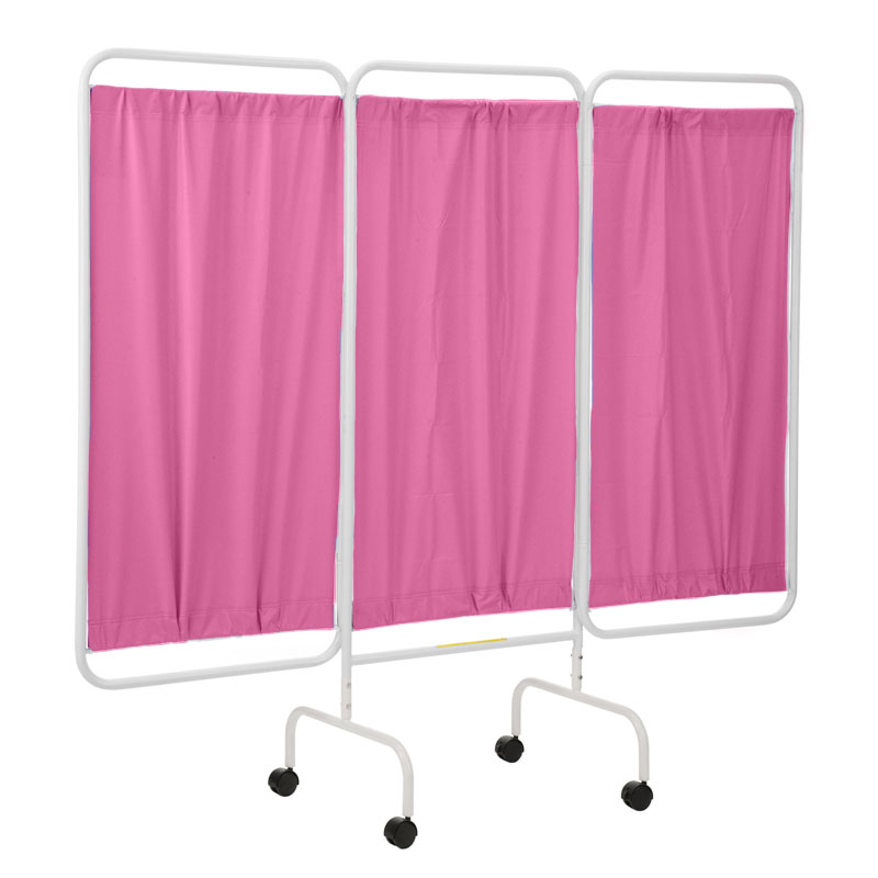 R b wire portable three panel patient privacy screen for Temporary privacy screen