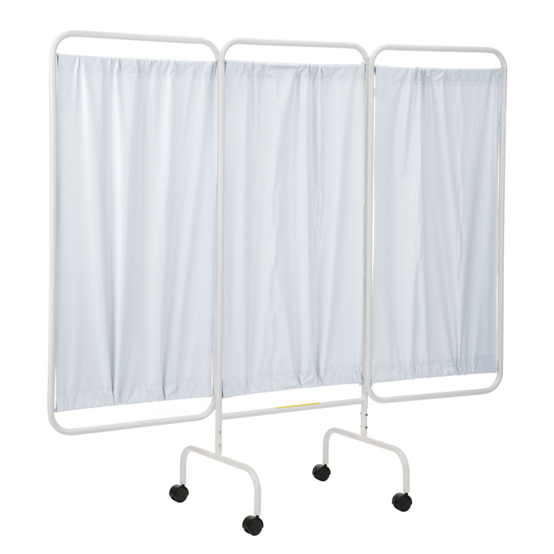R&B Wire Portable Three Panel Patient Privacy Screen