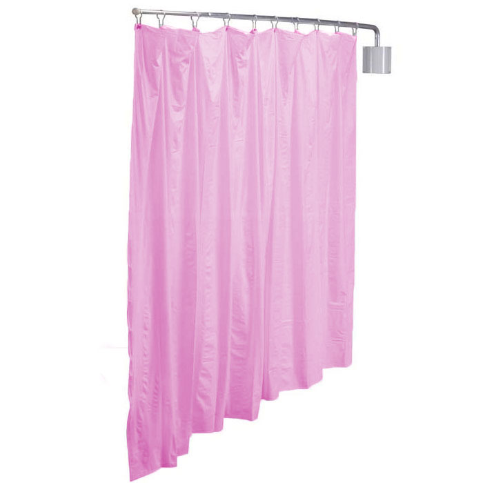 R&B Wire Telescoping Pink Vinyl Curtain Privacy Screen