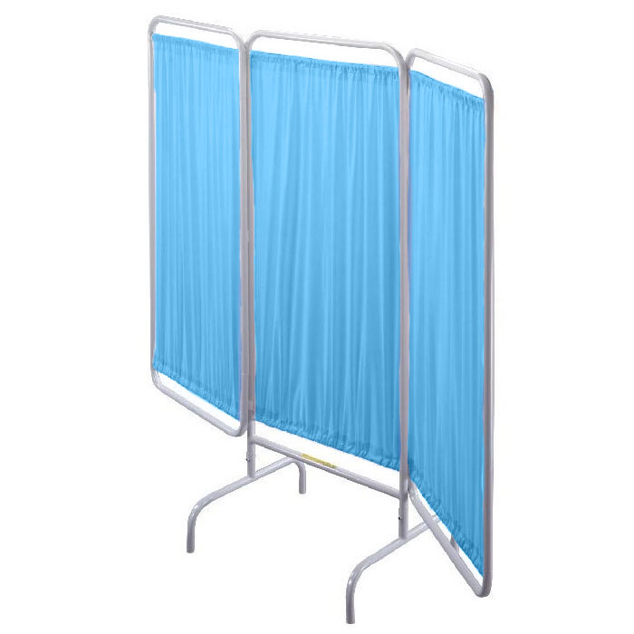R&B Wire Vinyl Panel Patient Privacy Screen - Blue