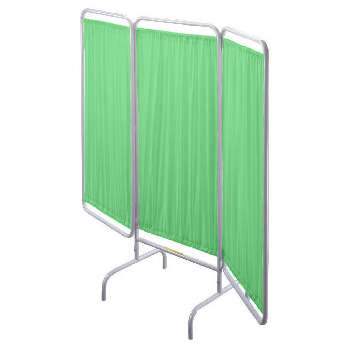 R&B Wire [PSS-VP] Replacement Vinyl Panel Patient Privacy Screens - 3 Pack - Green