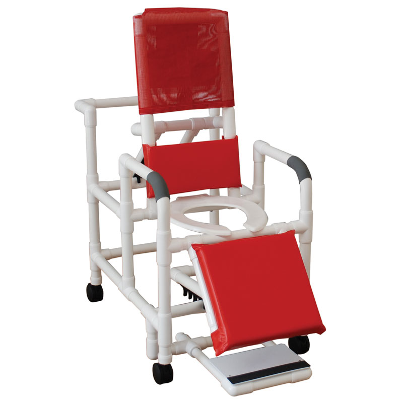 MJM International Reclining Shower Chair w/ Footrest