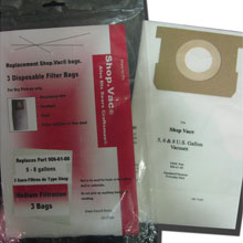 Vacuum Replacement Filter bag - Shop Vac 906-71-00 High Efficiency Drywall Dust - 2 Pack