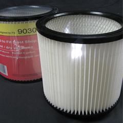Vacuum Replacement Filter Bag - Shop-Vac 90304 Multi-Fit PLeated Cartridge Filter Wet/Dry - Single GK-MF-8