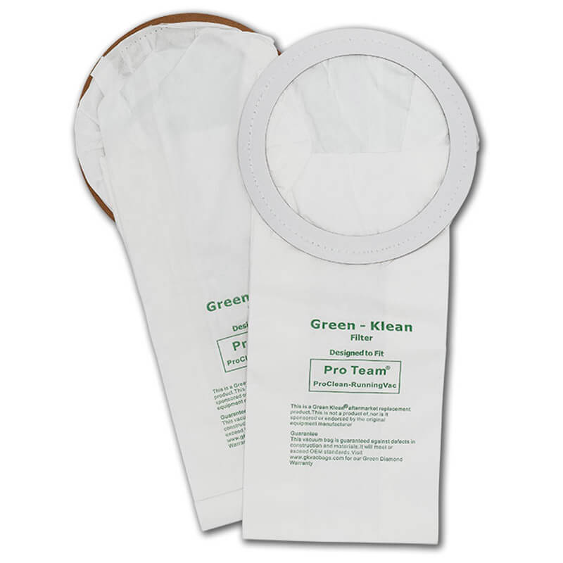 Green Klean 104544 Pro-Team ProClean, QuietPro-CN, Sequoia & RunningVac Replacement Filter Bags - 10 Pack GK-ProCln