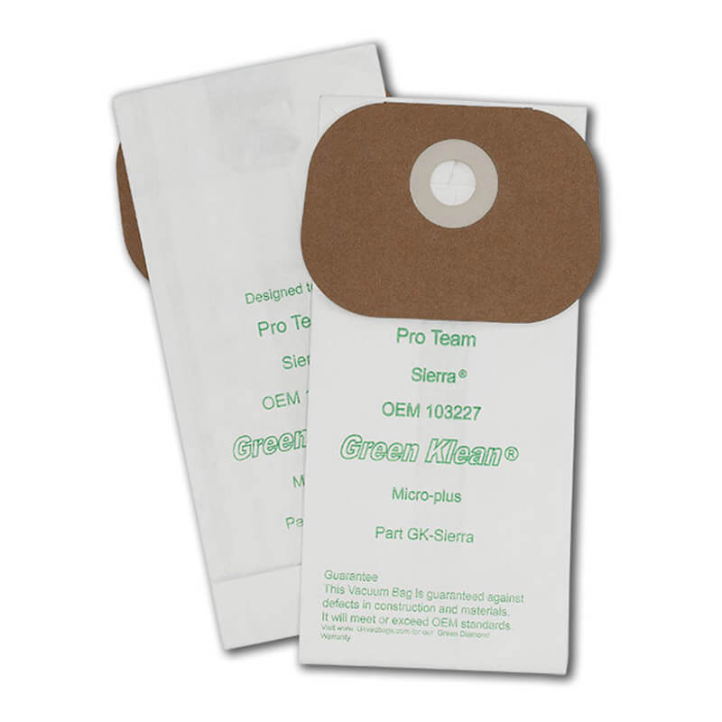 Green Klean 103227 Pro-Team Sierra/Lil Hummer II Replacement Filter Bag - 10/10 Packs GK-Sierra-CS