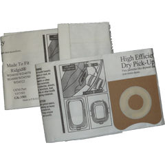 Vacuum Replacement Filter Bag - Ridgid VF3501 High Efficiency Paper-Dry Pick-Up - 2 Pack GK-3501