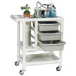 MJM 1000 Series Emergency Crash Carts & Code Carts, PVC & Plastic Frame Crash Trolleys