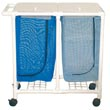 MJM 200 Series Double Hampers, PVC & Plastic Frame Laundry Hampers - Hospital & Medical Logistics Products