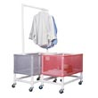 MJM 200 Series Laundry Carts, PVC & Plastic Frame Laundry Baskets - Hospital & Medical Logistics Products