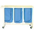 MJM 200 Series Triple Hampers, PVC & Plastic Frame Laundry Hampers - Hospital & Medical Logistics Products
