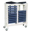 MJM 2000 Series Chart Racks, PVC & Plastic Frame Medical Chart Racks