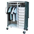 MJM 300 Series Distribution Carts, PVC & Plastic Frame Resident Item Carts - Hospital & Medical Logistics Products