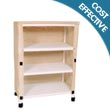 MJM Echo Series Linen Carts, PVC & Plastic Frame Linen Carts - Hospital & Medical Logistics Products