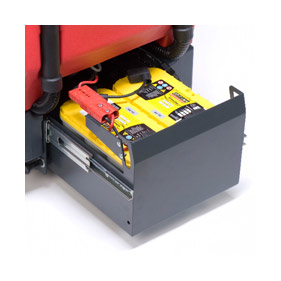 Easy To Change Batteries On The Battery Operated Floor Scrubber Machine  Known As The RA 535.