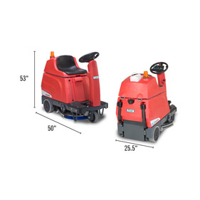 RA 535 Ride On Battery Operated Floor Scrubber