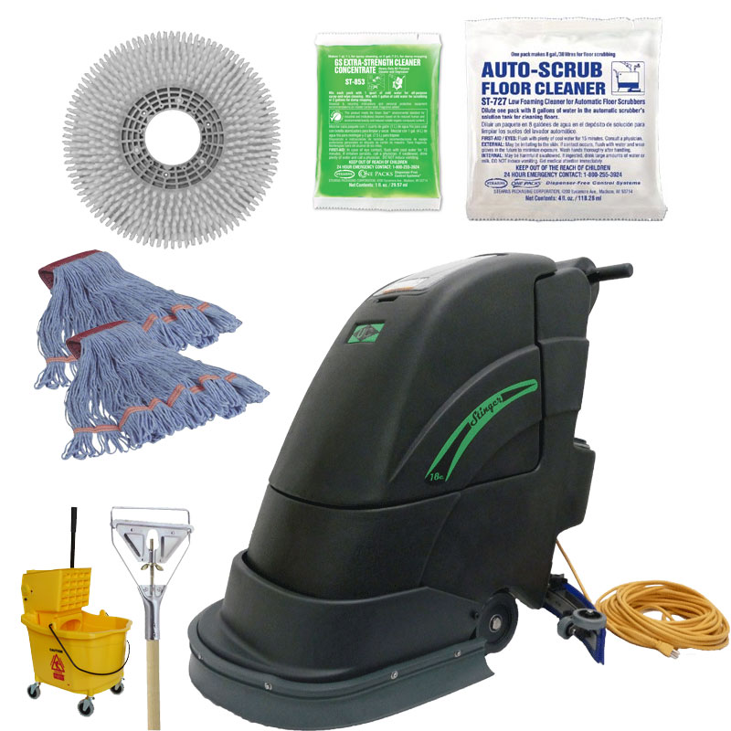 18 inch Gym Floor Scrubber Complete Kit UNO-18GYM-KIT