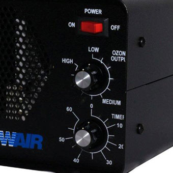 RainbowAir 5210-II Ozone Generator Machine - Odor Eliminator - Button Close Up