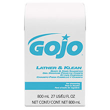 Lather & Klean Body & Hair Shampoo - (12) 800 ml Bag Refills