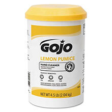 GOJO Lemon Pumice Hand Cleaner - 4.5 lb. Plastic Cartridges