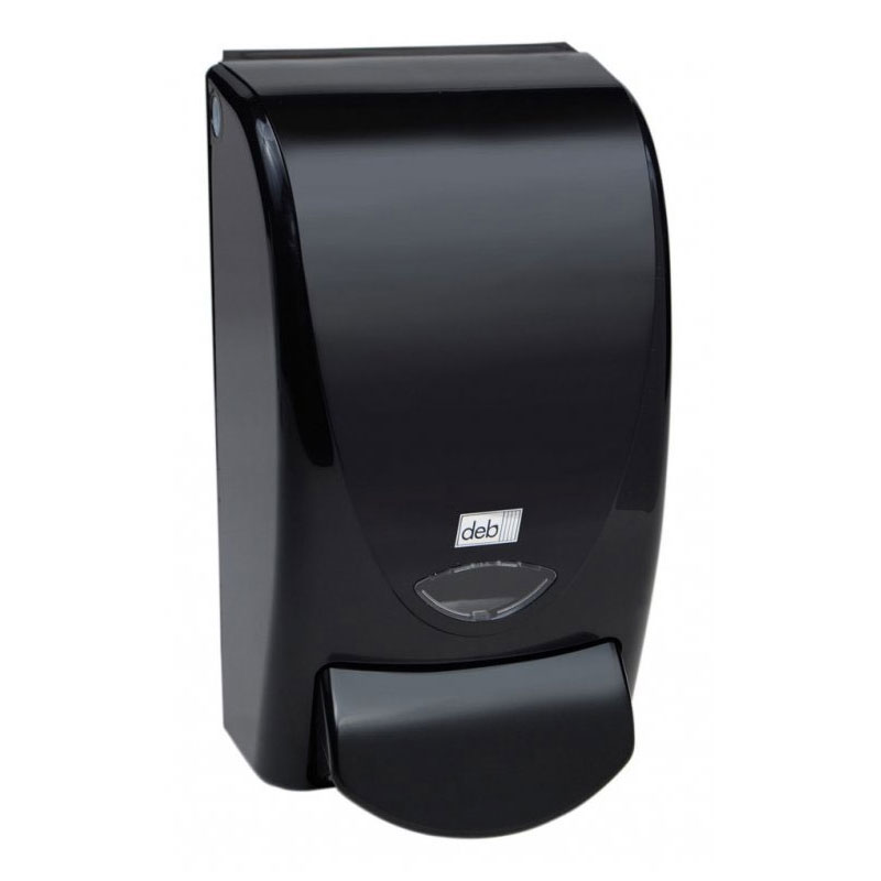deb SBS Black 1 Liter Curved Soap Dispenser