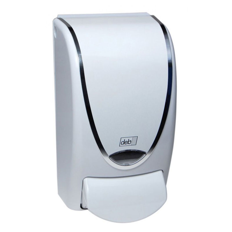 1 Liter Restyle Curve White Chrome Soap Dispenser