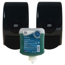 Transparent Black AeroGreen Antibacterial Soap Dispensing Pack