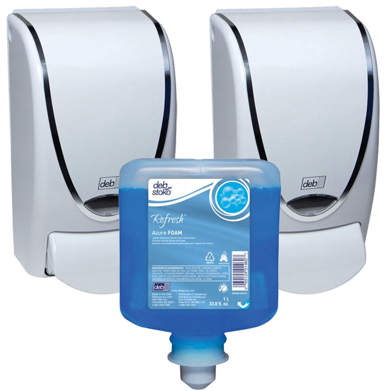 AeroBlue Foam Soap Dispensing Pack - Chrome