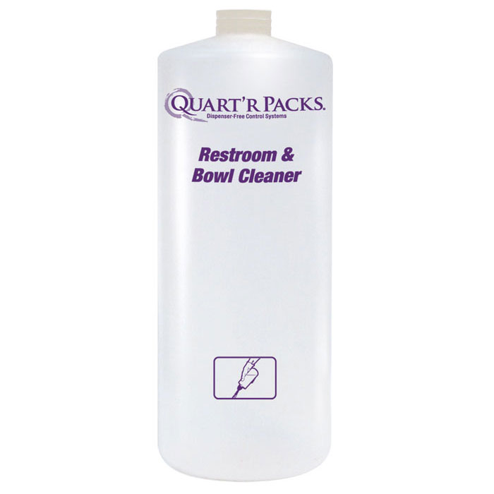 Quart'r Pack Restroom & Bowl Cleaner Bottle