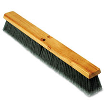 "Proline Gray Flagged Polypropylene Floor Brush Push Broom - 24"" Size"