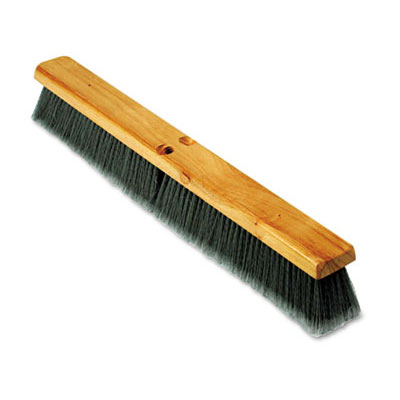 Proline Gray Flagged Polypropylene Floor Brush Push Broom - 24