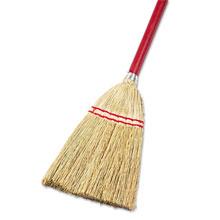"Lobby/Toy Broom, Corn Fiber Bristles, 39"" Wood Handle - 12 Pack BWK951T"