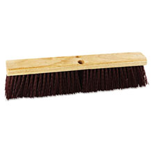 "Proline Stiff Polypropylene Floor Brush Push Broom - 18"" Size BRU20318"